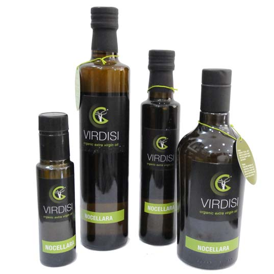 le bottiglie dell'Olio biologico Virdisi